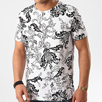 Frilivin - Tee Shirt 8259 Blanc Noir
