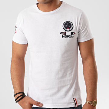 Geographical Norway - Tee Shirt Javaire Blanc