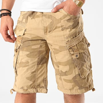 Geographical Norway - Short Cargo Panoramique Beige Camouflage