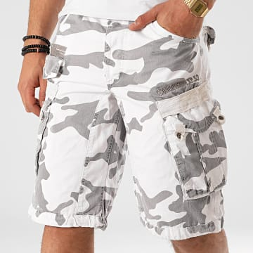 Geographical Norway - Short Cargo Panoramique Blanc Camouflage