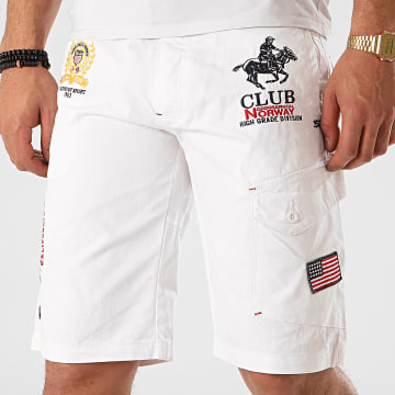 Geographical Norway - Short Chino Papillon Blanc