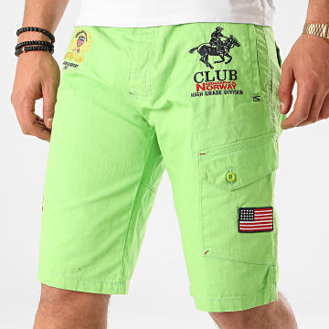Geographical Norway - Short Chino Papillon Vert Fluo