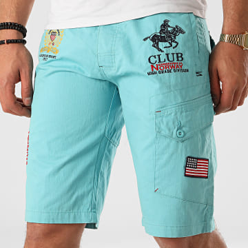 Geographical Norway - Short Chino Papillon Bleu Clair