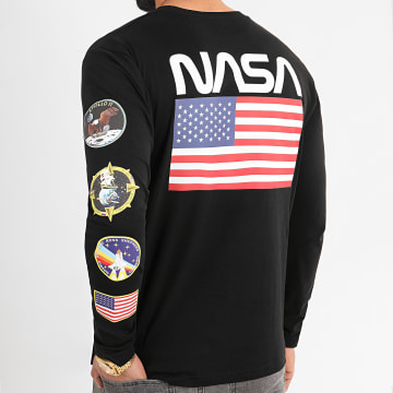NASA - Tee Shirt Manches Longues USA Back Noir