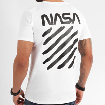 NASA - Tee Shirt Skid Back Blanc
