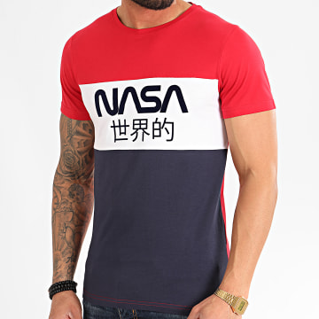 NASA - Tee Shirt Japan Tricolore Bleu Marine Blanc Rouge