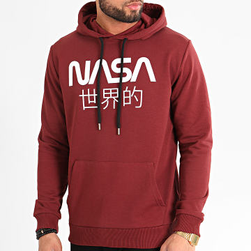 Sweat Capuche Japan Bordeaux