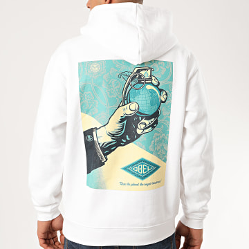 Obey - Sweat Capuche Royal Treatment Blanc