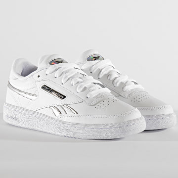 Reebok - Baskets Femme Club C Revenge EH1516 White Silver Metallic