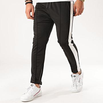 Aarhon - Pantalon Jogging A Bandes 92433 Noir