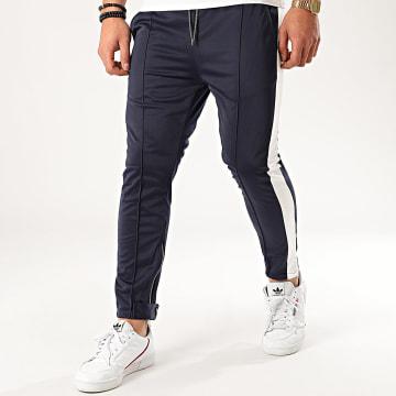 Aarhon - Pantalon Jogging A Bandes 92433 Bleu Marine