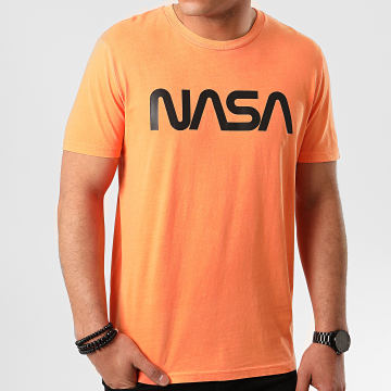 Tee Shirt Worm Logo Orange Fluo