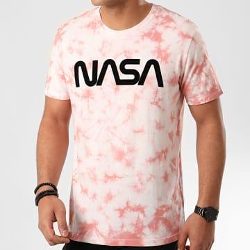 Tee Shirt Worm Logo Tye Die Rose