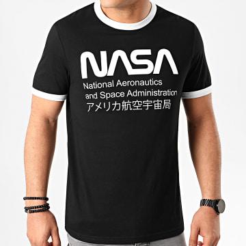 Tee Shirt Ringer Admin Noir Blanc