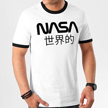 Tee Shirt Ringer Admin Blanc Noir