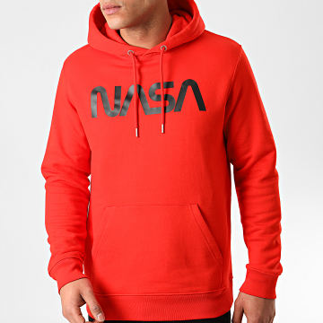 Sweat Capuche Worm Logo Rouge Noir