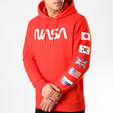 Sweat Capuche Flags Rouge Blanc
