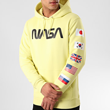 Sweat Capuche Flags Jaune