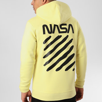Sweat Capuche Skid Back Jaune
