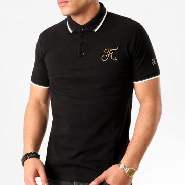 Final Club - Polo Gold Edition Avec Broderie Or 397 Noir