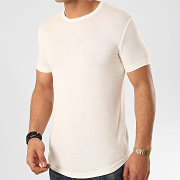 Ikao - Tee Shirt Oversize F817 Blanc Cassé