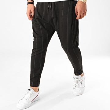 Ikao - Pantalon A Rayures F686 Noir