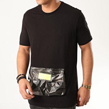 Ikao - Tee Shirt Poche Oversize F878 Noir