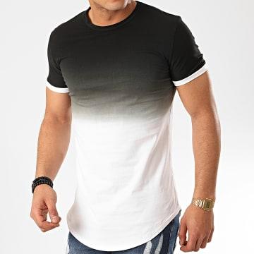 John H - Tee Shirt Oversize T2601 Noir Blanc Dégradé
