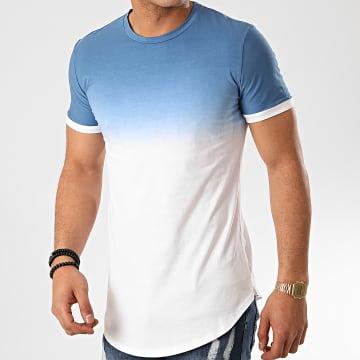 John H - Tee Shirt Oversize T2601 Bleu Clair Blanc Dégradé
