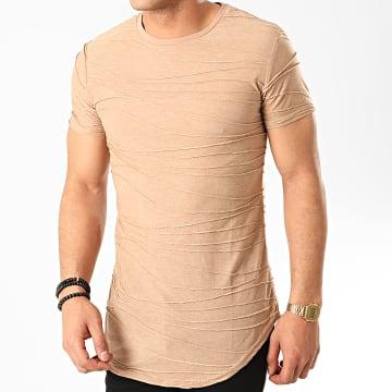 John H - Tee Shirt Oversize M671 Beige