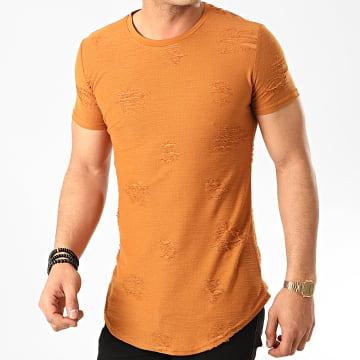 John H - Tee Shirt Oversize T2071 Camel