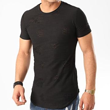 John H - Tee Shirt Oversize T2071 Noir