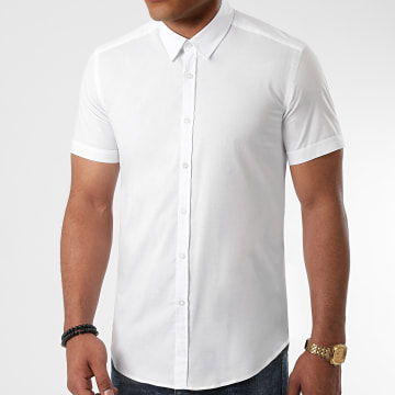 LBO - Chemise Manches Courtes Slim Fit 972 Blanc