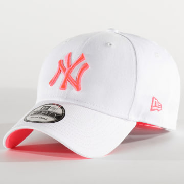 New Era - Casquette Neon 940 New York Yankees 12375789 Blanc Rose Fluo