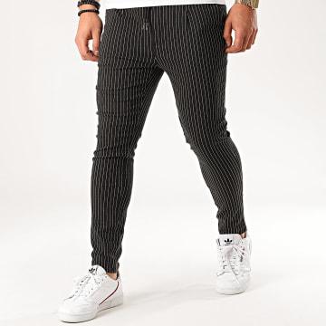 Uniplay - Pantalon A Rayures T3531 Noir