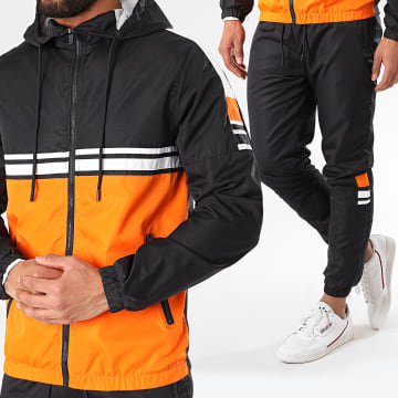 Zayne Paris  - Ensemble De Survêtement TX-512 Noir Orange