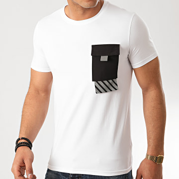 Zayne Paris  - Tee Shirt Poche TX-517 Blanc Réfléchissant