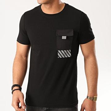 Zayne Paris  - Tee Shirt Poche TX-517 Noir Réfléchissant