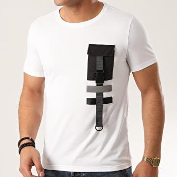 Zayne Paris  - Tee Shirt Poche TX-516 Blanc
