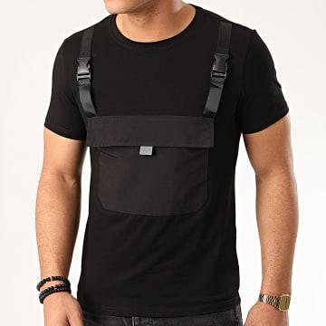 Zayne Paris  - Tee Shirt Poche TX-518 Noir