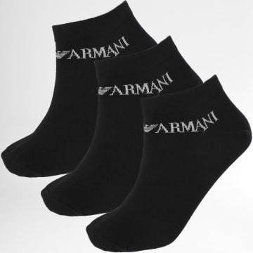 Emporio Armani - Lot De 3 Paires De Chaussettes Calza 300008-0P254 Noir