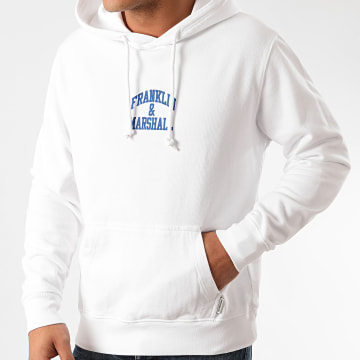 Franklin And Marshall - Sweat Capuche JM5000-2000P01 Blanc