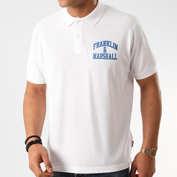 Franklin And Marshall - Polo Manches Courtes JM6000-3000P01 Blanc