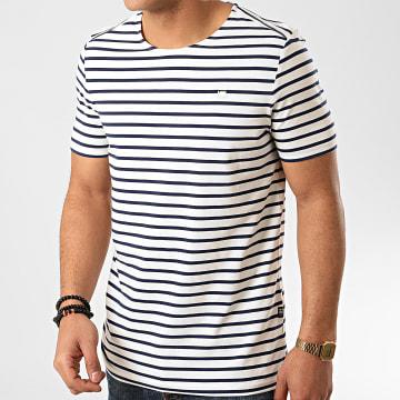 G-Star - Tee Shirt A Rayures D16428-C176 Blanc Bleu Marine