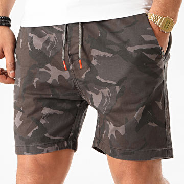 MZ72 - Short Chino Filou Gris Anthracite Camouflage