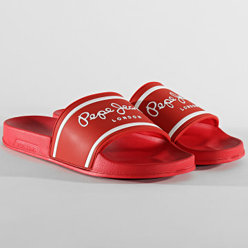 Pepe Jeans - Claquettes Slider Basic PMS70079 Red