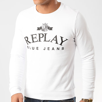 Replay - Sweat Crewneck M3080 Blanc