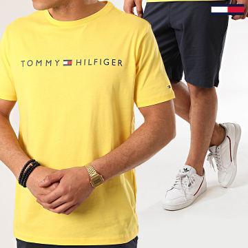 Tommy Hilfiger - Ensemble Tee Shirt Short Jogging Jersey 1794 Bleu Marine Jaune