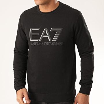 EA7 - Sweat Crewneck Réfléchissant 3HPM60-PJ05Z Noir