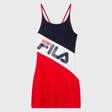 Fila - Robe Femme Tricolore Mekky Beach 687559 Rouge
